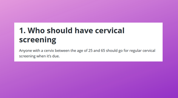 "HSE inclusiveness excludes ""women"" from cervical cancer screening guidance"
